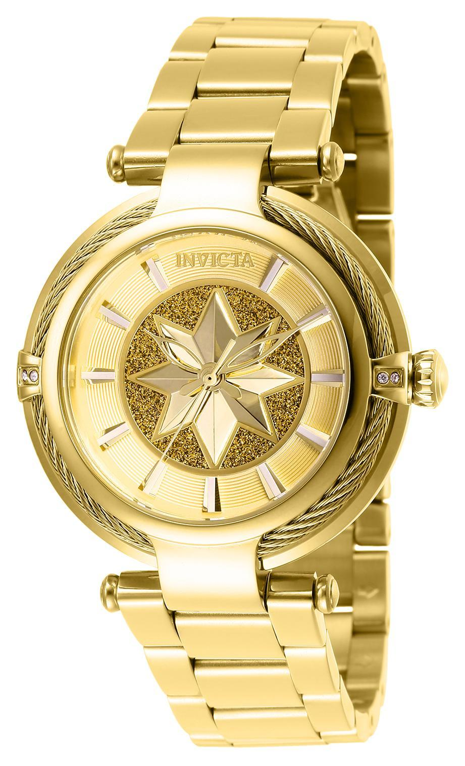 Captain Marvel Invicta gold watch (also available in rose gold), $279 (Photo: Invicta)