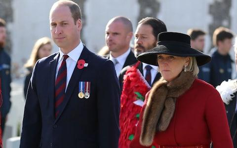 Prince William shares hongi greeting as he honours Kiwi Passchendaele soldiers