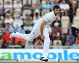 England''s Jimmy Anderson bowls during play on the second day of the third Test against India at The Ageas Bowl cricket ground in Southampton on July 28, 2014 (AFP Photo/Olly Greenwood)