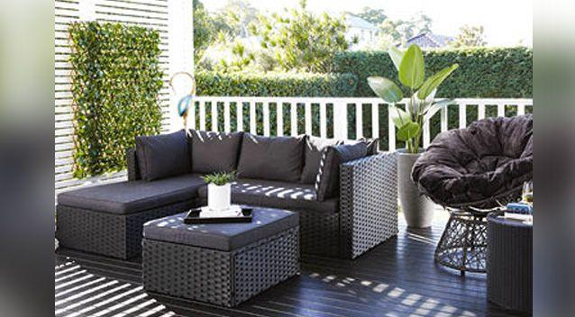 The shopper filming the row said the families were fighting over the $349 corner wicker outdoor setting. Photo: Aldi