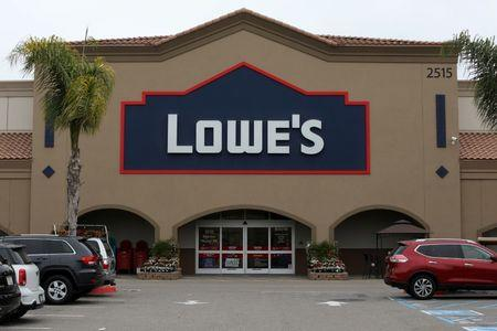 A Lowe's retail store is shown in Carlsbad, California