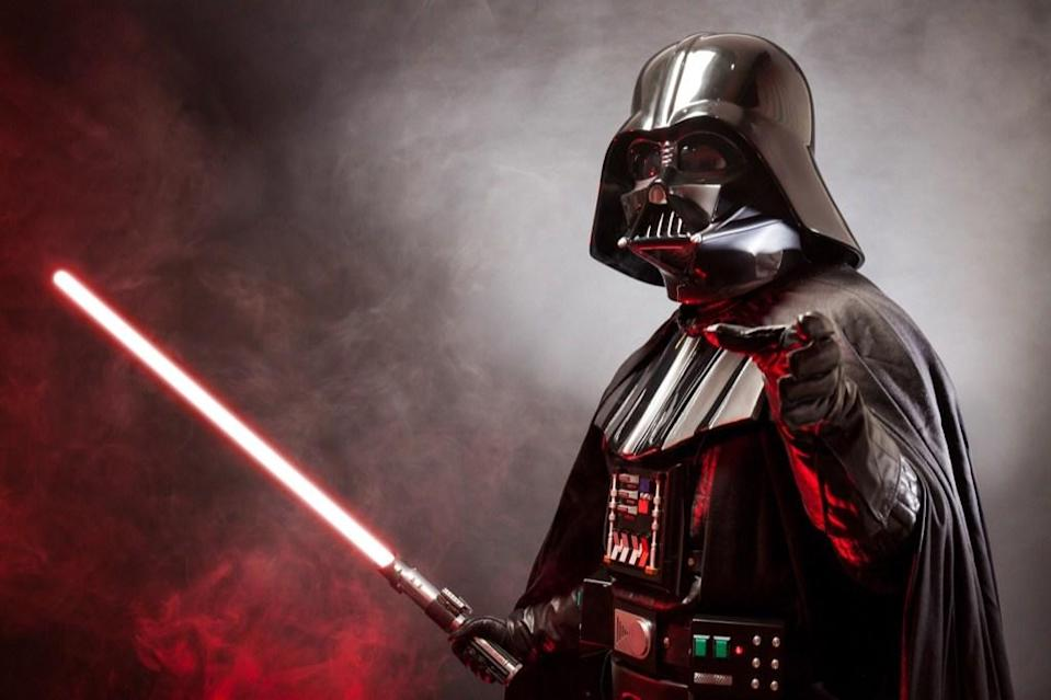 "There's no doubt that Darth Vader's getup is pretty snazzy in <em>Star Wars</em>, but according to <em>Time</em>, it's probably out of your budget. That's because it would cost <a href=""https://time.com/4294289/darth-vader-suit-cost/"" rel=""nofollow noopener"" target=""_blank"" data-ylk=""slk:$18.3 million to make a real-life replica"" class=""link rapid-noclick-resp"">$18.3 million to make a real-life replica</a> of the suit that features a voice modifier, breathing apparatus, prosthetic limbs, and an augmented-reality filter."