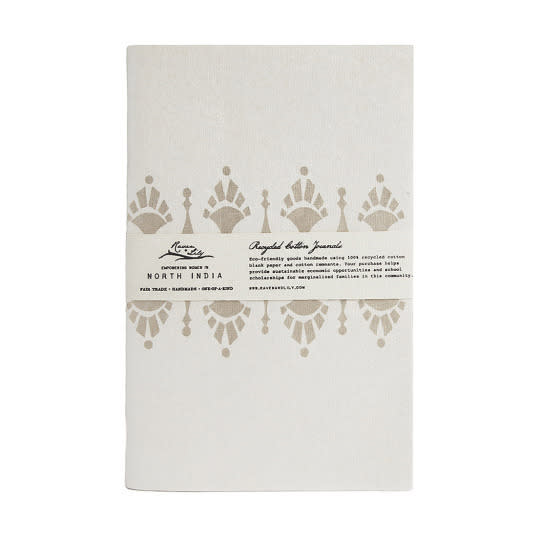 "<p>Jot down notes, ideas, directions, or whatever strikes your fancy in these small, beautiful <a href=""http://www.ravenandlily.com/gifts/paper-products"" rel=""nofollow noopener"" target=""_blank"" data-ylk=""slk:notebooks"" class=""link rapid-noclick-resp"">notebooks</a> made of recycled paper. Each helps empower at-risk women artisans in countries like Ethiopia, Pakistan, Haiti, and Cambodia.</p>"