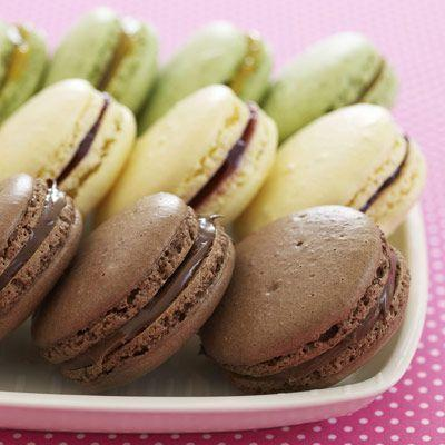 """<p>Take on a fun (and rewarding!) baking challenge! These delicate, delicious cookies will impress all your friends.</p><p><em><a href=""""https://www.goodhousekeeping.com/food-recipes/a9626/chocolate-hazelnut-macaroons-recipe/"""" rel=""""nofollow noopener"""" target=""""_blank"""" data-ylk=""""slk:Get the recipe for Chocolate-Hazelnut Macarons »"""" class=""""link rapid-noclick-resp"""">Get the recipe for Chocolate-Hazelnut Macarons »</a></em> </p>"""
