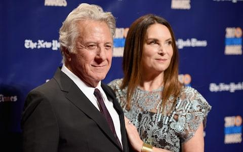 Dustin Hoffman and his wife Lisa Hoffman - Credit: Getty