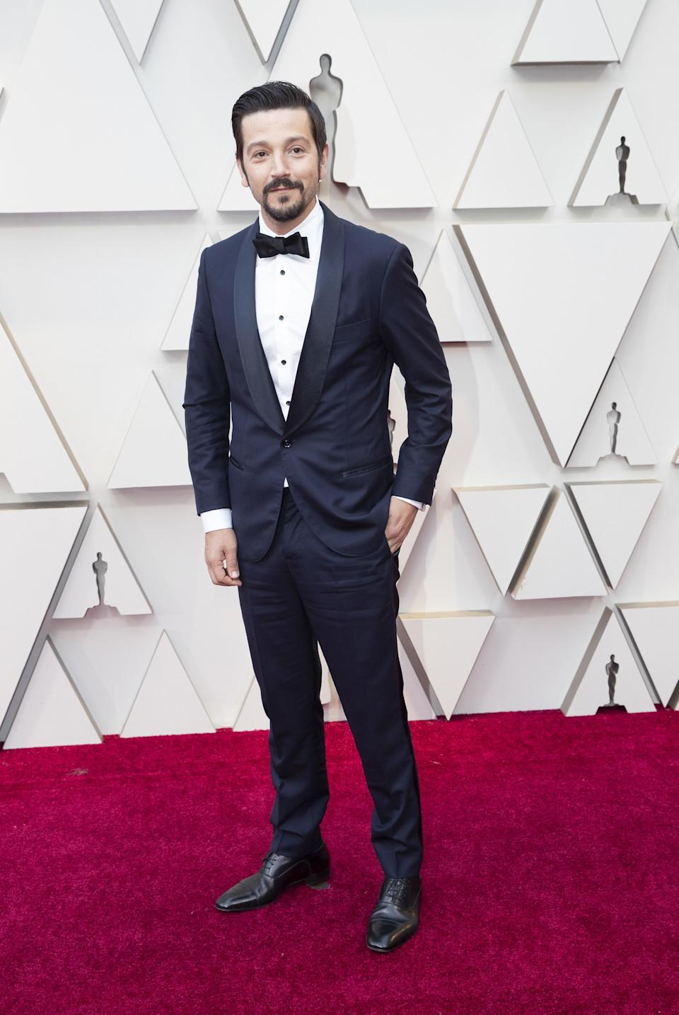 Diego Luna in Brunello Cucinelli and Christian Louboutin shoes