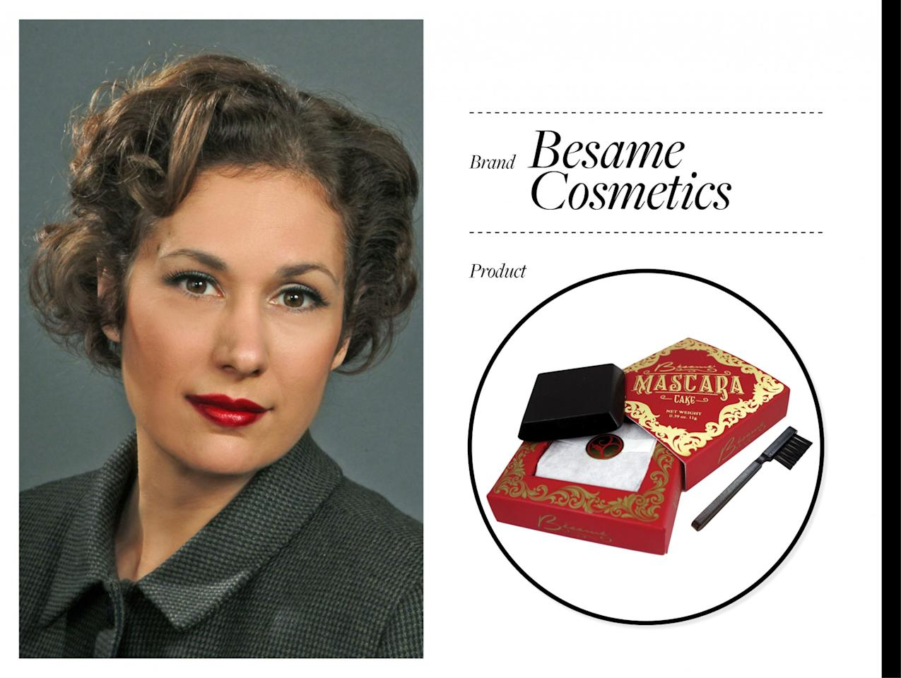 """<p><a rel=""""nofollow"""" href=""""https://besamecosmetics"""">Bésame Cosmetics</a> (which translates to """"kiss me"""") is a vintage-inspired makeup line founded in 2004 by Gabriela Hernandez. Hernandez immigrated to the U.S. from Buenos Aires when she was 12 years old. As an artist, cosmetics historian, author, and designer, Hernandez decided to use her background and skills to re-create old-school makeup products from the 1920s to 1970s but with modern formulation. For Hernandez, it was all about bringing back the glamour to cosmetics. <a rel=""""nofollow"""" href=""""https://www.instagram.com/besamecosmetics/?hl=en"""">Bésame</a> is known for its <a rel=""""nofollow"""" href=""""https://besamecosmetics.com/collections/lipstick"""">Classic Color Lipsticks</a> ($22), which replicate the original shades from the past. As for the packaging of the lipsticks, it's based on Hernandez's grandmother's 1940s lipstick bullet. One other standout product from the collection is the <a rel=""""nofollow"""" href=""""https://besamecosmetics.com/collections/eyes/products/black-cake-mascara"""">Cake Mascara</a> ($25). It's not your ordinary mascara tube — this one is a solid formulation similar to the cake mascaras used in the 1920s. The solid isn't just for your lashes; it can also be used for your brows and as eyeliner by just activating it with water. Shop the brand at <a rel=""""nofollow"""" href=""""https://besamecosmetics"""">Besamecosmetics.com</a> or at <a rel=""""nofollow"""" href=""""http://Sephora.com"""">Sephora.com</a>. (Photo: Bésame Cosmetics) </p>"""
