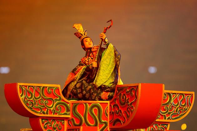 BEIJING - AUGUST 08: A traditional musician performs during the Opening Ceremony for the 2008 Beijing Summer Olympics at the National Stadium on August 8, 2008 in Beijing, China.  (Photo by Streeter Lecka/Getty Images)