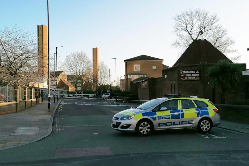 Two men and a bullmastiff were knifed outside The Bradfield Club in Peckham
