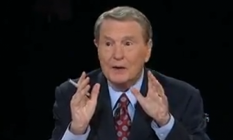 Jim Lehrer played the role of enforcer Wednesday night at the first presidential debate.