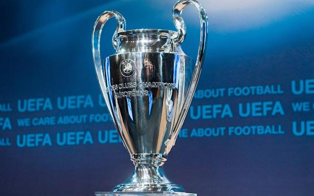 The Champions League trophy - AP
