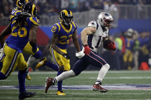 New England Patriots receiver Julian Edelman won Super Bowl MVP. (AP)