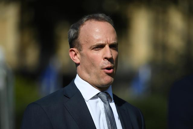 """Foreign Secretary Dominic Raab said the government would be """"careful"""" of aggravating authorities in Cyprus ahead of her sentencing this week. (Getty)"""