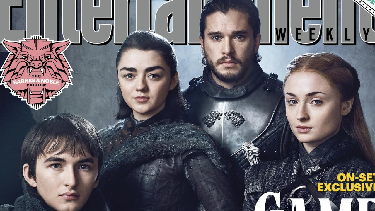 Kit Harington, Sophie Turner and Isaac Hempstead Wright on what might happen if the Stark family sat down to dinner!