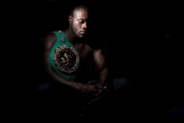 Deontay Wilder opened up to Yahoo Sports about using boxing as a means to make a difference in the world while overcoming racism in the U.S. (AP Photo)