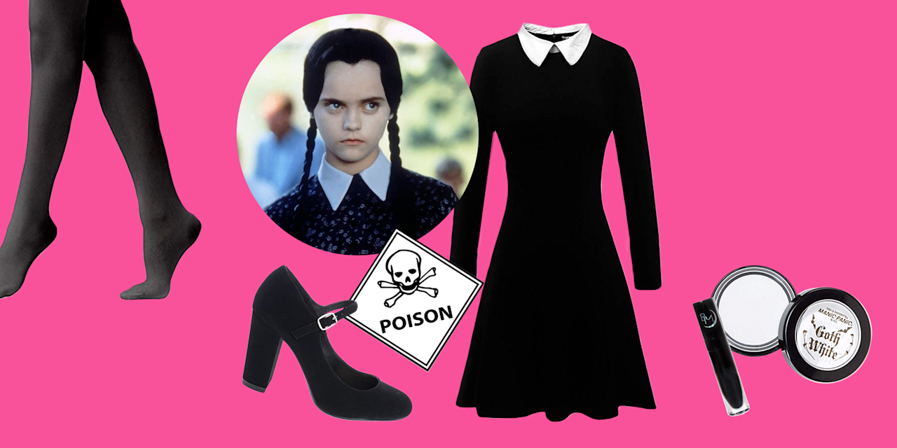 "<p>I don't think we'll ever forget when Christina Ricci famously said, ""This is my costume. I'm a homicidal maniac. They look just like everyone else."" <a href=""https://www.goodhousekeeping.com/life/entertainment/g3933/addams-family-cast-then-and-now/"" target=""_blank""><em>The Addams Family </em>is a classic</a>, and the Wednesday Addams <em></em>Halloween costume idea is one of our favorites of all time. Not to mention, it's incredibly easy to DIY. You just have to make sure you have a black dress with a white collar. And don't forget to put your hair into her signature braids (we've got you covered with a variety of wig selections).</p><p>We're already beyond excited for you to go as the most iconic <em>Addams Family</em> character, and now, it's simpler than ever. With these essentials, you're just a few purchases away from quoting Wednesday all night long. While you're at it, we highly recommend convincing <a href=""https://www.goodhousekeeping.com/holidays/halloween-ideas/g28106766/family-halloween-costumes/"" target=""_blank"">your entire family</a> to dress as the other family members. Find your Morticia, Gomez, Pugsley, Uncle Fester, and everyone else before you hit the town. Or you can even dress your kids as your literal mini-me. Check out our roundup below, which includes the best Wednesday Addams costume ideas for adults, kids, and infants. Because you're never too young (or old) to dress up as everyone's favorite <em>apathetic</em> individual. As Wednesday would say, <em>be afraid, be very afraid. </em></p>"