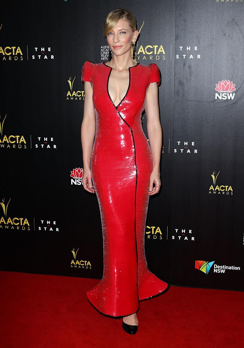 Wearing an Armani Privé gown at the 2nd Annual AACTA Awards at The Star on January 30, 2013, in Sydney.