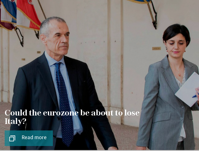Could the eurozone be about to lose Italy?