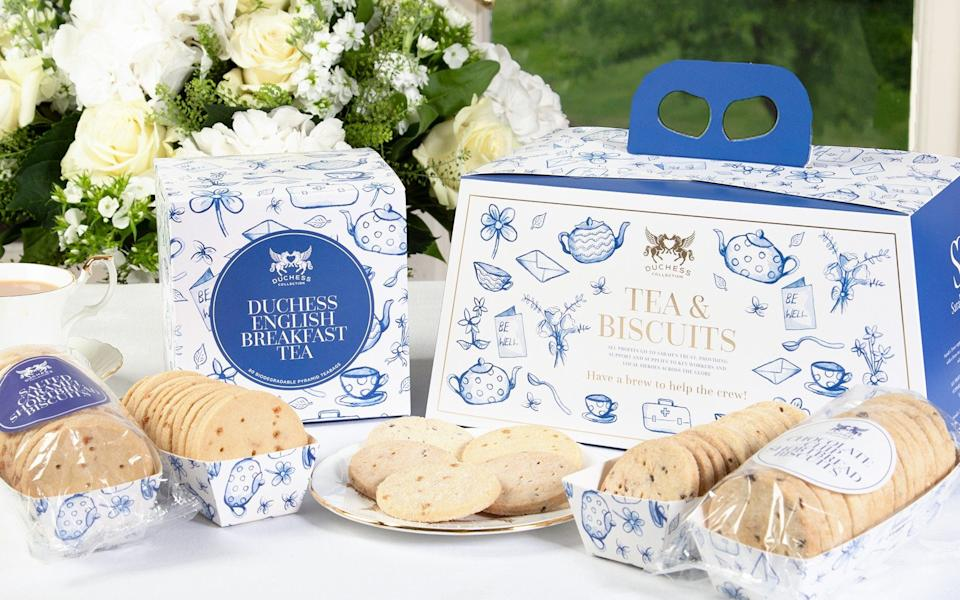 A tea and biscuits gift set designed by Sarah, Duchess of York - Duchess Collection
