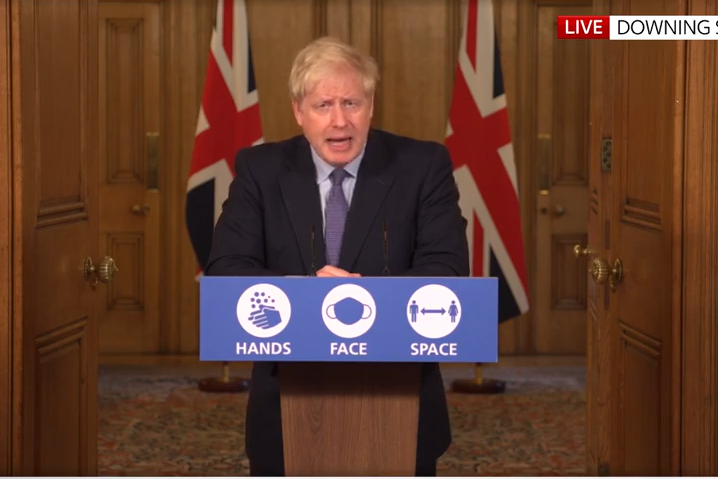 """Prime Minister Boris Johnson has confirmed Greater Manchester will move to the """"very high"""" coronavirus alert level: Sky News"""