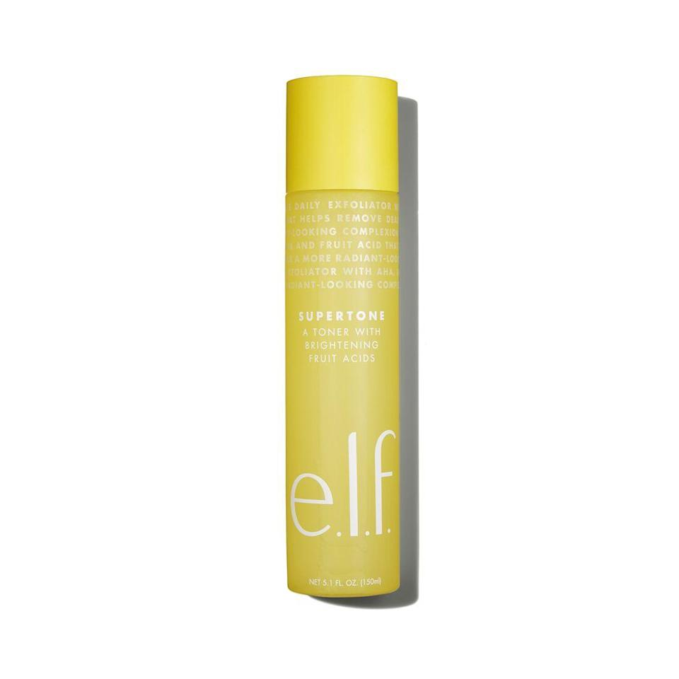 """<p>The E.L.F. Supertone toner livens up dull and tired skin, thanks to exfoliating <a href=""""https://www.allure.com/gallery/what-you-didnt-know-about-lactic-salicylic-citric-glycolic-acid-creams?mbid=synd_yahoo_rss"""" rel=""""nofollow noopener"""" target=""""_blank"""" data-ylk=""""slk:glycolic acid"""" class=""""link rapid-noclick-resp"""">glycolic acid</a>, while soothing aloe reduces redness and inflammation.</p> <p><strong>$8</strong> (<a href=""""https://shop-links.co/1697701356144190906"""" rel=""""nofollow noopener"""" target=""""_blank"""" data-ylk=""""slk:Shop Now"""" class=""""link rapid-noclick-resp"""">Shop Now</a>)</p>"""