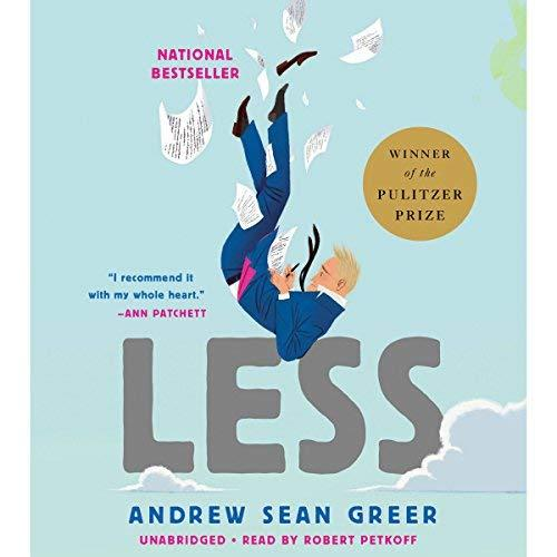 """<p><strong>less</strong></p><p>audible.com</p><p><a href=""""https://www.audible.com/pd/Less-Audiobook/B0714BG8FG"""" target=""""_blank"""">SHOP NOW</a></p><p>Download this satirical novel by Andrew Sean Greer. <em>LESS </em>is a pulitzer-prize winning tale about the struggling novelist, Arthur Less, as he travels around the world, avoiding the wedding of an ex-boyfriend. Narrated by Robert Petkoff, a stage actor known for his work in Shakespearean productions, this story is a meditation on time, romance, and chance.</p>"""
