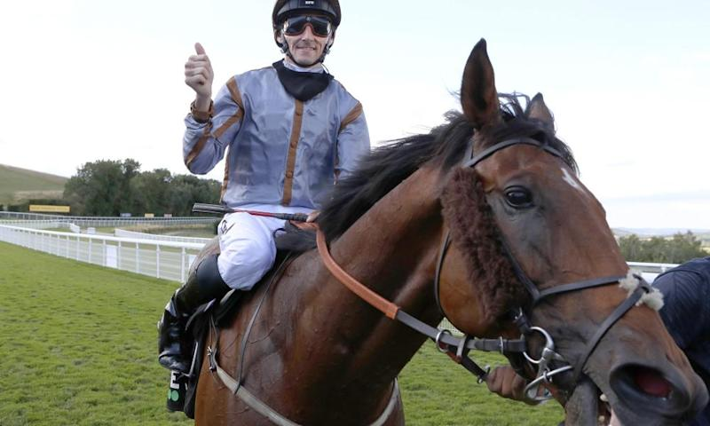 Summerghand and Danny Tudhope after winning the Stewards' Cup at Goodwood