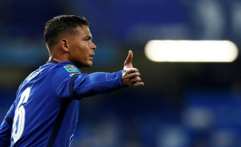 Thiago Silva makes his debut for Chelsea in the League Cup