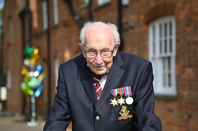 Captain Tom Moore has raised over £30 million for NHS charities. (Getty Images)