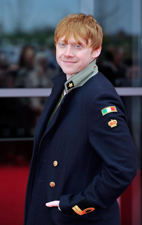 WATFORD, ENGLAND - MARCH 31:  Rupert Grint  attends the Grand Opening of the Warner Bros. Studio Tour London: The Making of Harry Potter on March 31, 2012 in Watford, England.  (Photo by Gareth Cattermole/Getty Images)