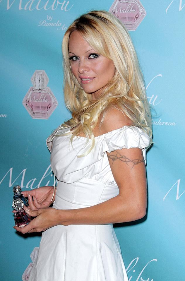 "Meanwhile, down the coast at the W hotel in Ft. Lauderdale, Florida, Pam Anderson was promoting her new perfume called Malibu. Alexander Tamargo/<a href=""http://www.gettyimages.com/"" target=""new"">GettyImages.com</a> - November 5, 2009"