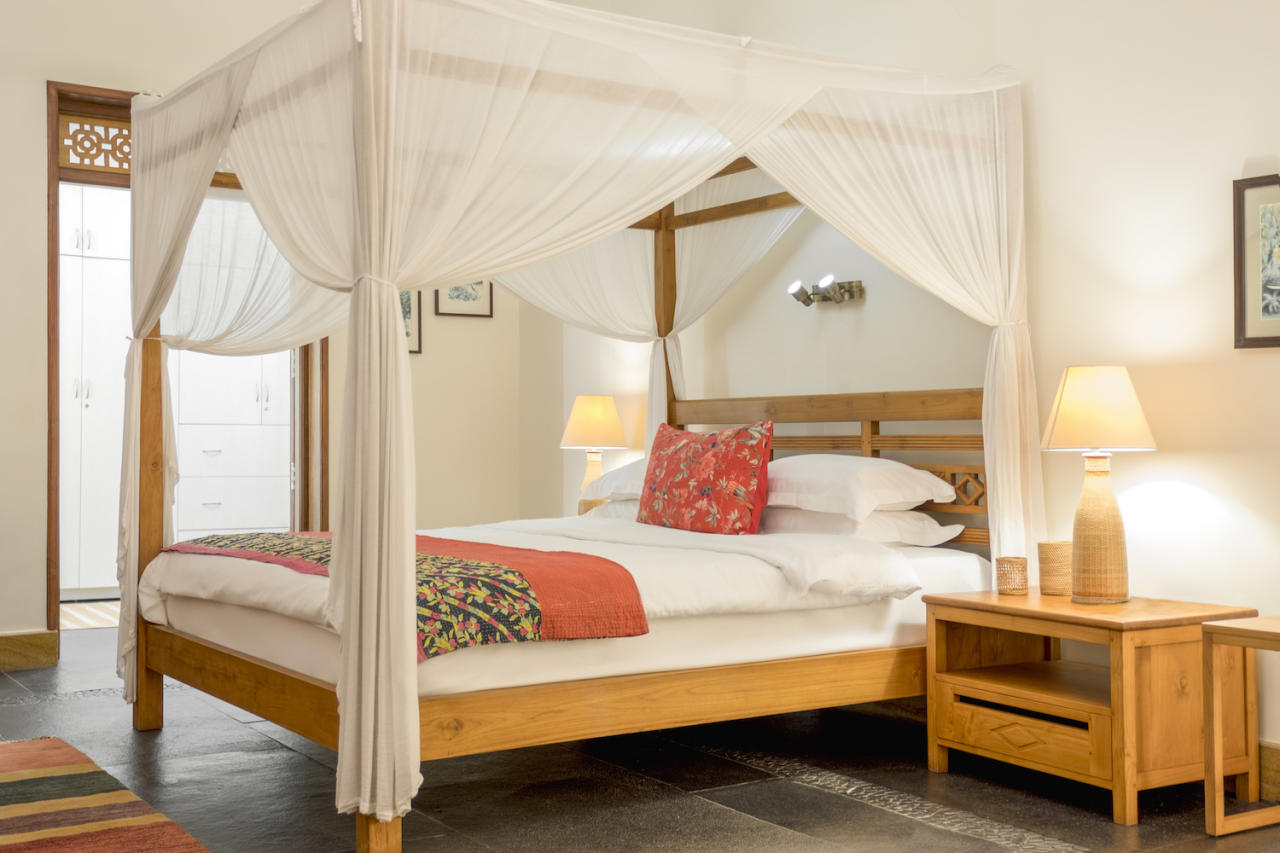 <p>Summertime villa: It is located in a quiet, forested area not far from Calangute and Candolim beaches, and has three master suites, an infinity pool, a lounge pool, a koi pond, and a waterfall. </p>