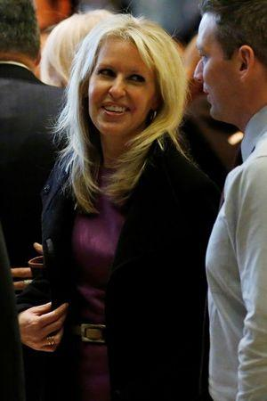 Monica Crowley, talk radio personality, stands in the lobby of Trump Tower in Manhattan, New York