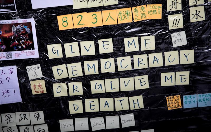 The protests om Hong Kong have roiled the city for three months - Getty Images AsiaPac