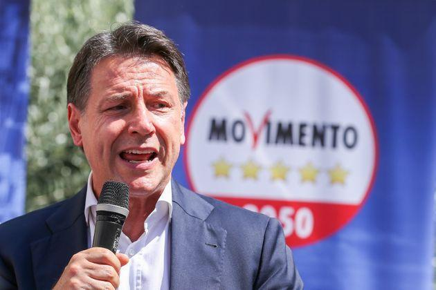 NAPLES, ITALY - 2021/09/06: The politician Giuseppe Conte, president of the 5 Star Movement, during a political meeting for the elections of the mayor of the city of Naples. (Photo by Marco Cantile/LightRocket via Getty Images) (Photo: Marco Cantile via Getty Images)