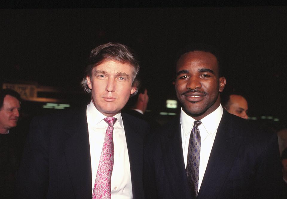 Donald Trump with Evander Holyfield in 1988.
