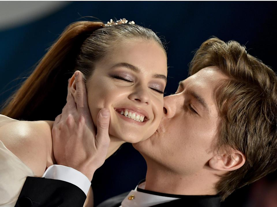 Barbara Palvin and Dylan Sprouse at the Oscars after-party.