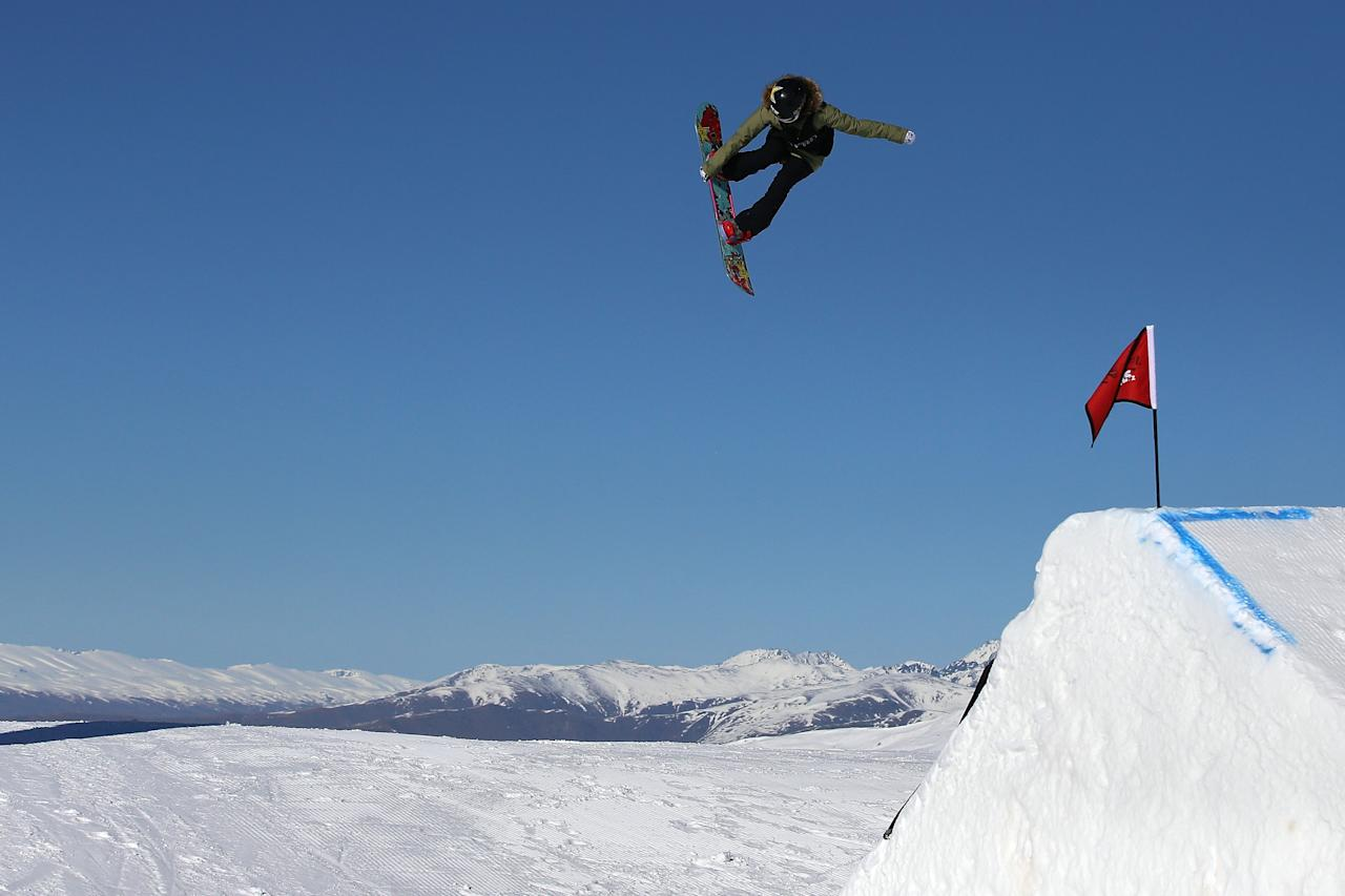 <p>Judges are already familiar with Langland for her style, the execution of her grabs and for her ability to pull off audacious moves while flying high in the air. (Getty) </p>