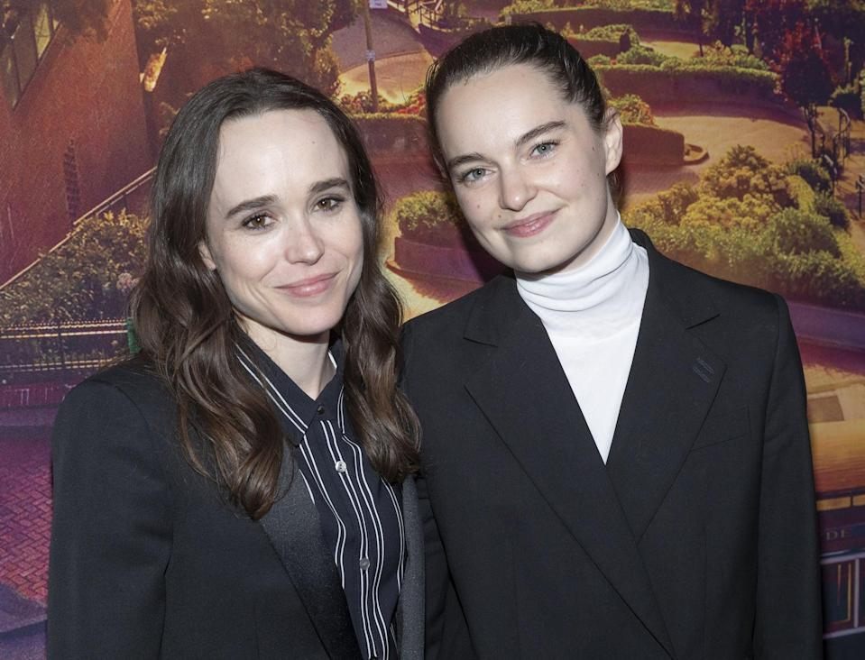 METROGRAPH, NEW YORK, UNITED STATES - 2019/06/04: Ellen Page and Emma Portner attends Tales of the City New York premiere at Metrograph. (Photo by Lev Radin/Pacific Press/LightRocket via Getty Images)