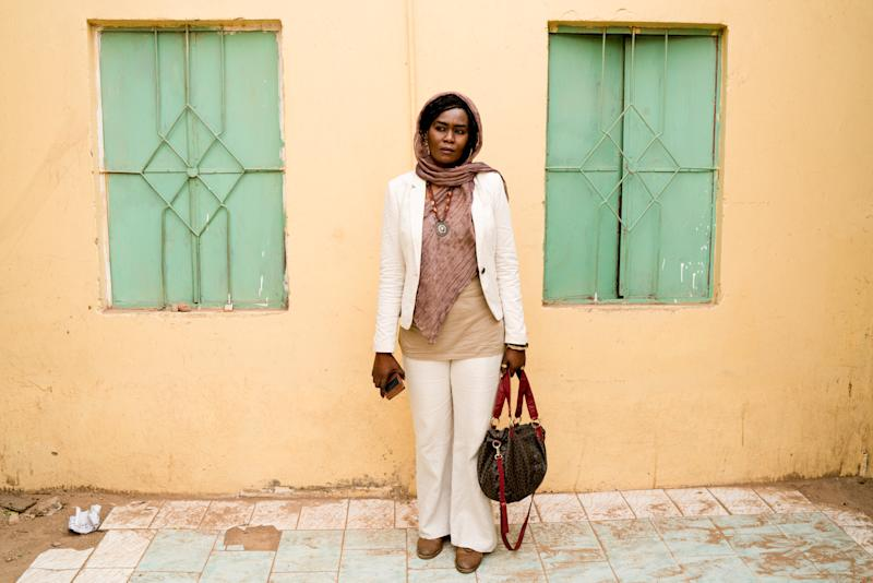 Nagda Mansour, 39, translator, poses for a photograph in Khartoum, Sudan, June 29, 2019. Mansour who was imprisoned for 75 days after attending a demonstration in December, said it was difficult for many to accept the idea of negotiating with the military because of its leadership's involvement in the war in Darfur. (Photo: Umit Bektas/Reuters)