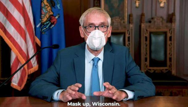 PHOTO: Gov. Tony Ivers urges Wisconsin to 'Mask up' in the video. (Gov. Gretchen Whitmer/YouTube)