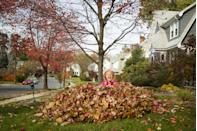 """<p>Embrace your inner kid by diving into a massive pile of leaves. Or make a game of it with family or friends by hiding """"treasure"""" and turning it into a scavenger hunt. Just be sure to, err, shower after if any dogs enjoy your yard, and check for bugs. </p>"""