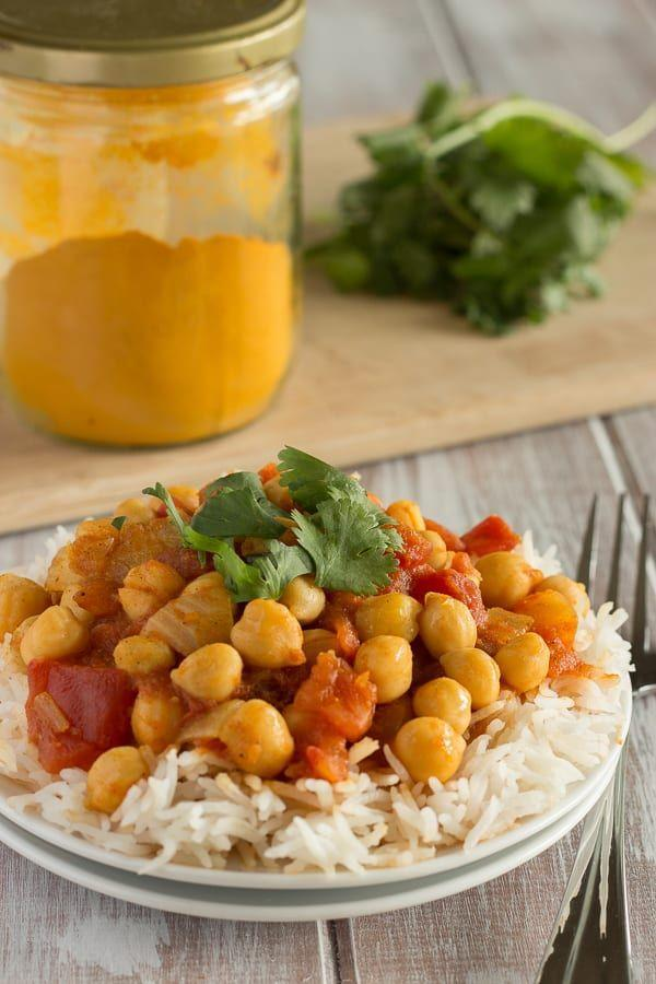 "<p>Get the <a href=""https://veganyumminess.com/quick-and-easy-chana-masala/"" rel=""nofollow noopener"" target=""_blank"" data-ylk=""slk:Chana Masala"" class=""link rapid-noclick-resp"">Chana Masala</a> recipe.</p><p>Recipe from <a href=""https://veganyumminess.com/"" rel=""nofollow noopener"" target=""_blank"" data-ylk=""slk:Vegan Yumminess"" class=""link rapid-noclick-resp"">Vegan Yumminess</a>. </p>"