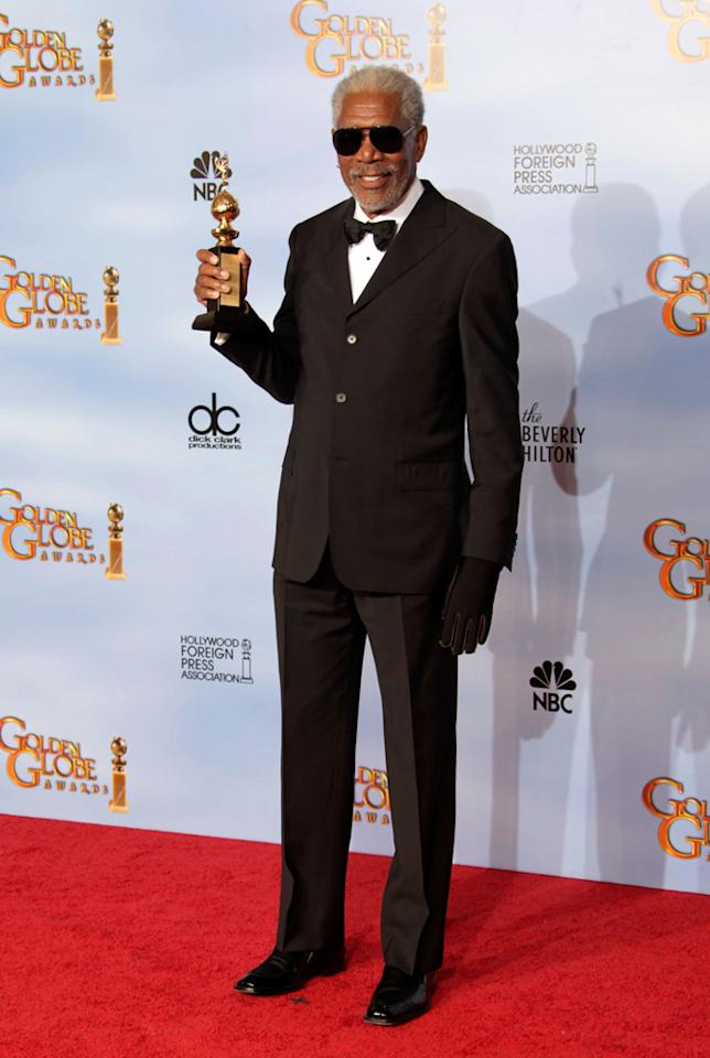 Morgan Freeman arrives at the 69th Annual Golden Globe Awards in Beverly Hills, California, on January 15.