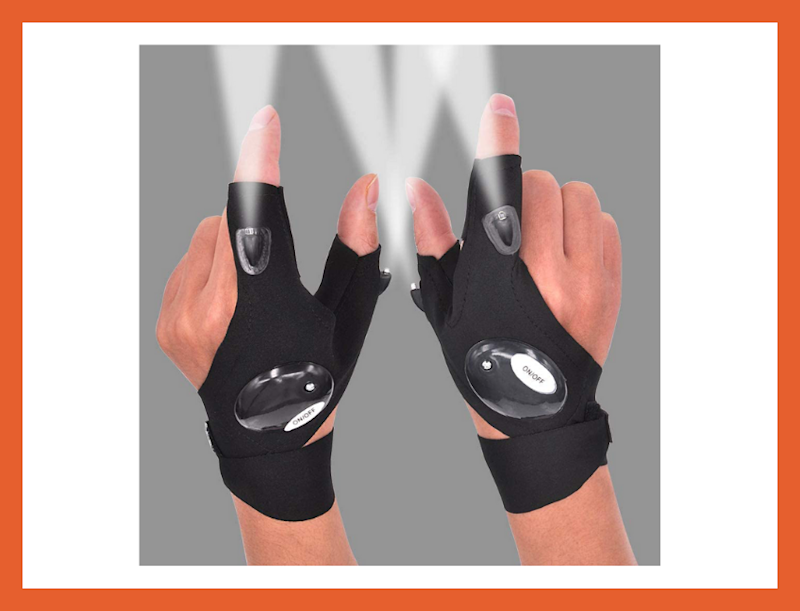 Ahorre casi un 10%: guantes con linterna LED Mylivell.  (Foto: Amazon)