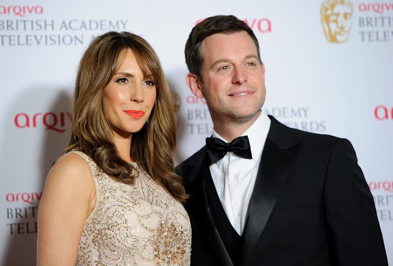 Alex Jones and Matt Baker pose for photographers in the winners room at the British Academy Television Awards at a central London venue, Sunday, May 18, 2014. (Photo by Jonathan Short/Invision/AP)