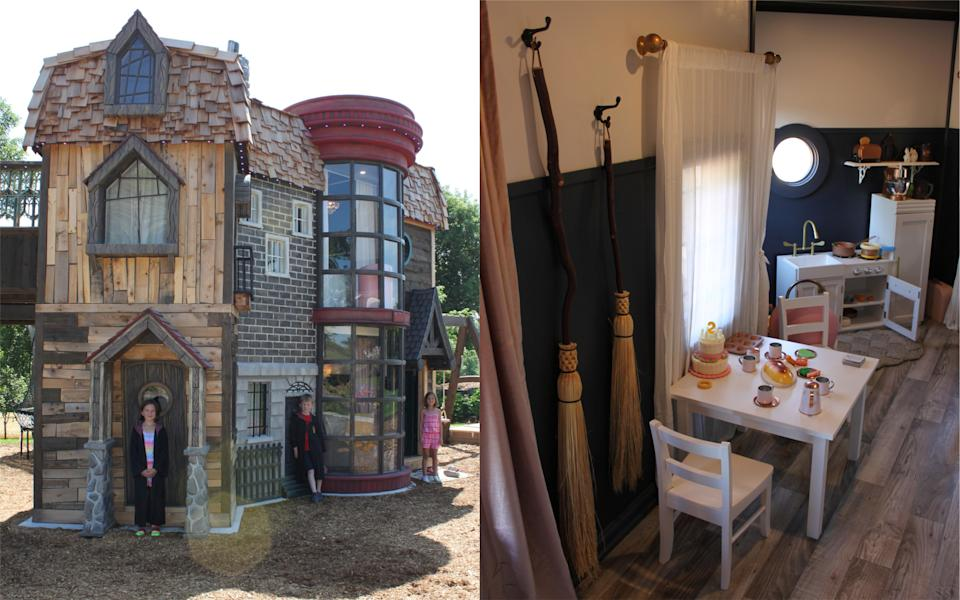 One lucky girl's grandparents gave her the bespoke playhouse of dreams [Photo: SWNS]