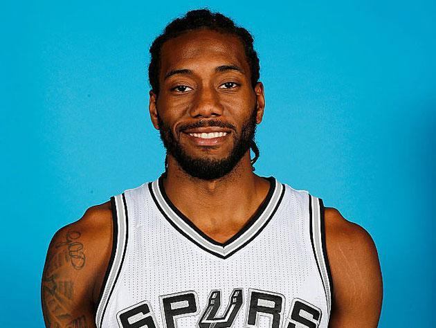 Kawhi Leonard. We think. This guy's smiling. Cannot confirm. (Getty Images)