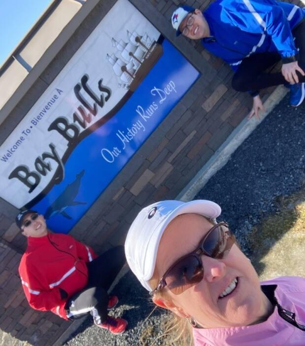 The group finished their second day of walking in Bay Bulls. The walk began that day in Tors Cove and went 14 kilometres.