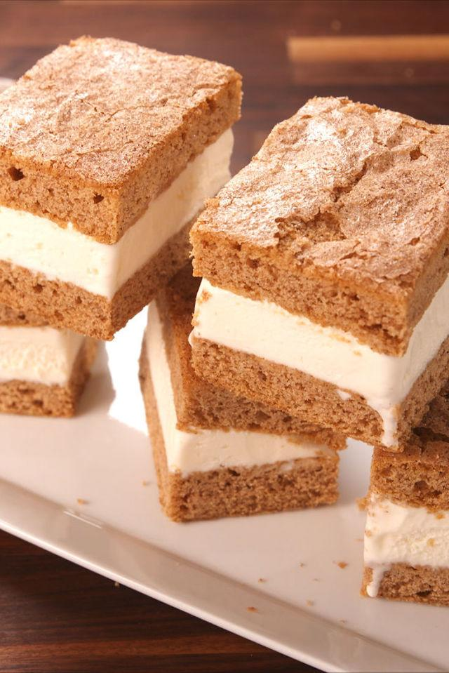 """<p>Why have we not done this before?</p><p>Get the recipe from <a rel=""""nofollow"""" href=""""http://www.delish.com/cooking/recipe-ideas/recipes/a54722/snickerdoodle-ice-cream-sandwiches-recipe/"""">Delish</a>.</p>"""